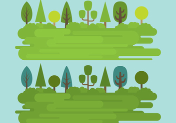 Grass Landscapes - vector gratuit #302433