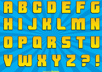 Comic Style Alphabet Set - vector #302463 gratis