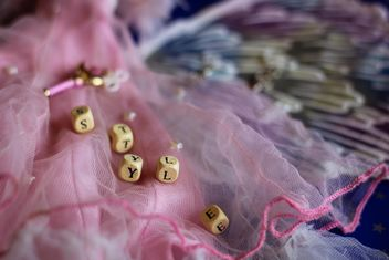 Pink decorated doll dress - image #302533 gratis