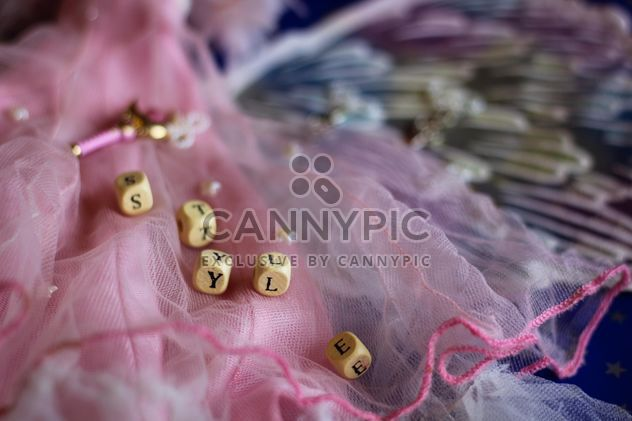 Pink decorated doll dress - Kostenloses image #302533