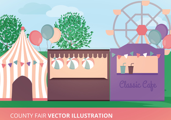 County Fair Vector Illustration - бесплатный vector #302603