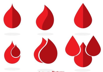 Blood Drop Icons - бесплатный vector #302693
