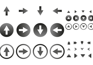 Free Arrow Icons Vector - vector gratuit #302713