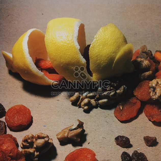 Lemon peel with dried apricots - Free image #302843