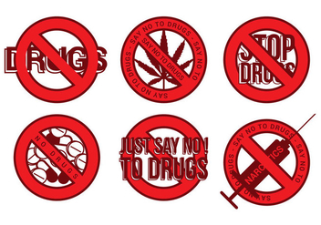 No Drugs Icon Vector - Kostenloses vector #303023