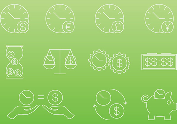 Time Is Money Icons - vector gratuit #303033