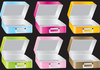 Metallic Lunch Box Vectors - бесплатный vector #303043