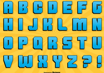 Comic Style Alphabet Set - vector #303053 gratis