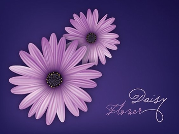Purple Daisies Blue Background - Kostenloses vector #303163