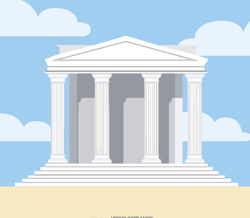 Greek Temple - vector gratuit #303193