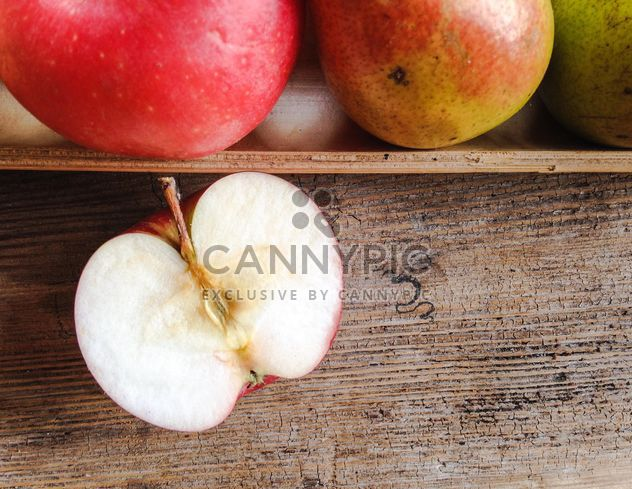 Apples on wooden table - Free image #303283