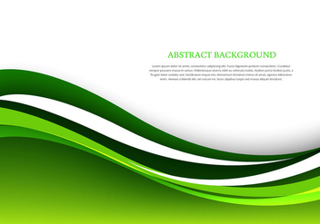 Green abstract wave background - vector gratuit #303393