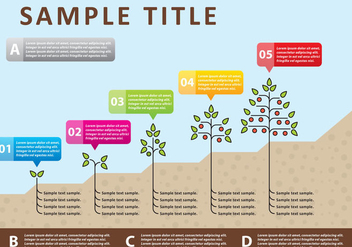 Vector Plants Infography - vector gratuit #303413