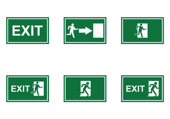 Free Emergency Exit Sign Vector - Kostenloses vector #303453