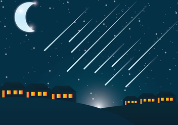 Meteor Shower Vector - Free vector #303473