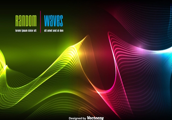 Dynamic wave background - Free vector #303493
