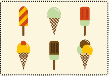 Free Retro Vintage Ice Cream Icons - vector #303503 gratis