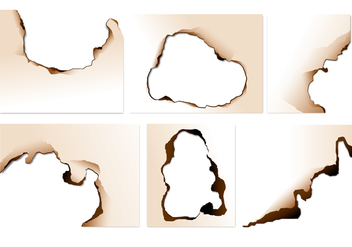 Burnt paper edge vectors - vector gratuit #303513