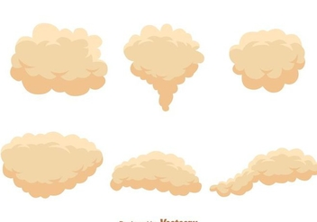 Cream Dust Cloud Vectors - vector #303533 gratis