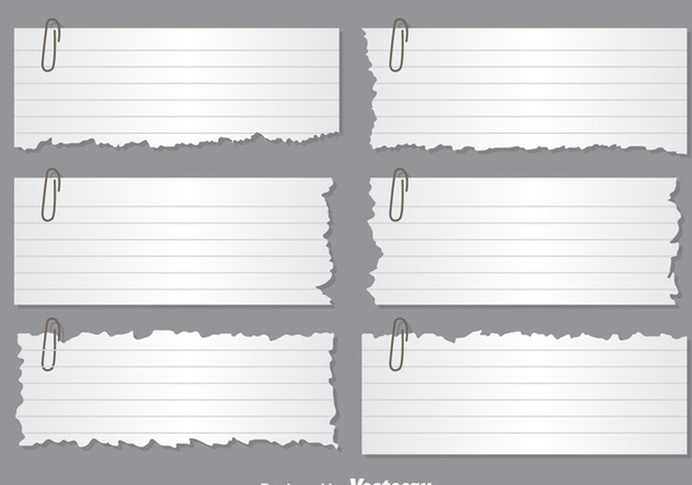 Ripped Paper Note Vectors - Free vector #303603