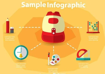 School Bag Infography - vector gratuit #303653