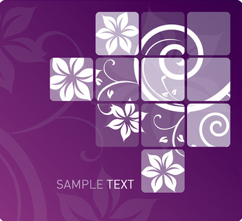 Tiled Swirls Purple Background - Free vector #303713