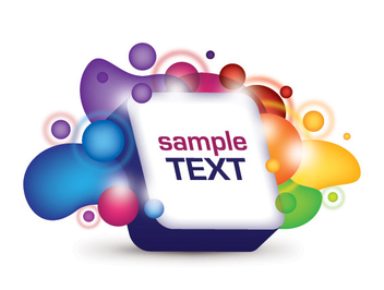 Abstract Splashed 3D Text Box - vector #303723 gratis