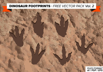 Dinosaur Footprints Free Vector Pack Vol. 2 - Free vector #303813