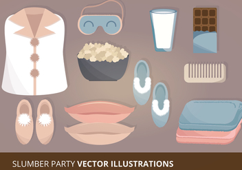 Slumber Party Vector Illustration - Free vector #303823
