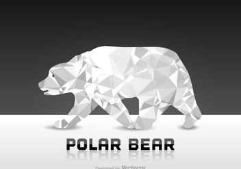 Free Polygon Polar Bear Vector - vector gratuit #303853