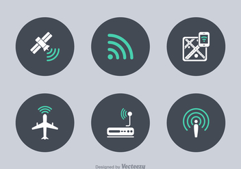 Free WiFi Technology Vector Icons - vector gratuit #303873