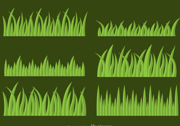 Grass Vector Set - vector gratuit #303893