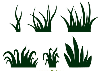 Grass Silhouette Vectors - Free vector #303903