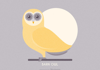 Free Barn Owl Vector Illustration - бесплатный vector #303913
