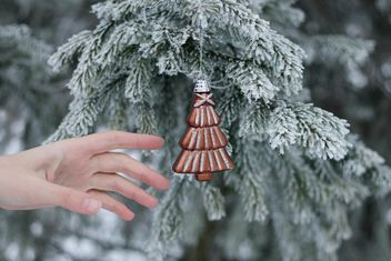 Hand reaching the Christmas toy - бесплатный image #304093