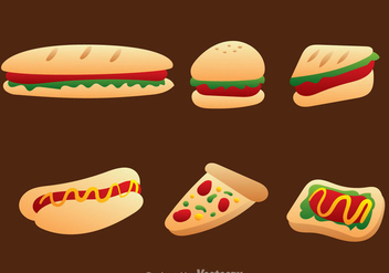 Fast Food Icon Vector Set - бесплатный vector #304173