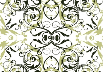 Olive green floral seamless vector - бесплатный vector #304263