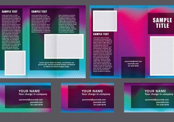 Dark Fold Brochure Vectors - бесплатный vector #304283