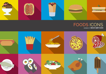 Food icons set - vector gratuit #304313