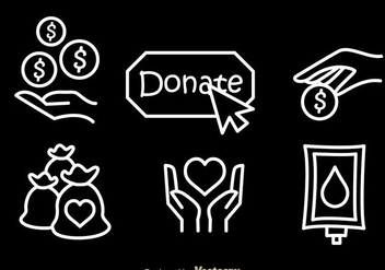 Donate White Vector Icons - бесплатный vector #304393