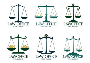 Law Office Logo Vectors - vector gratuit #304403