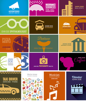 Simple and creative business card collection - vector #304813 gratis