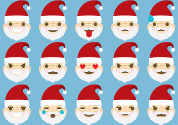 Santa Emoticons - vector gratuit #304913