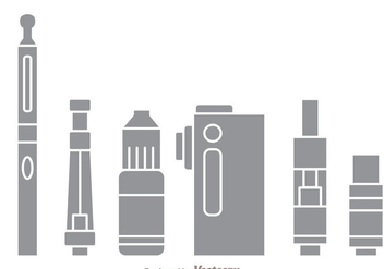Vape Gray Icons - vector #304983 gratis