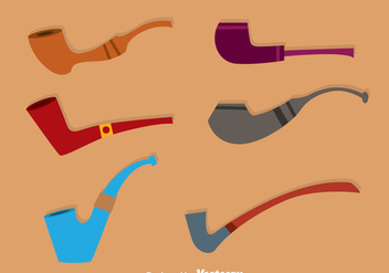 Tobacco Pipe Colors Icons - Kostenloses vector #305003