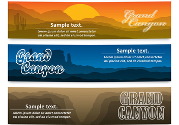 Grand Canyon Banners - vector gratuit #305023
