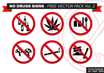 No Drugs Signs Free Vector Pack Vol. 2 - vector #305043 gratis