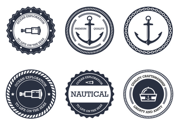 Nautical Badge - vector #305073 gratis