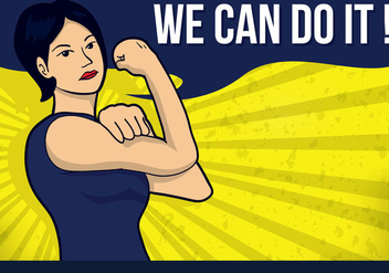 We Can Do It Illustration Vector - бесплатный vector #305103