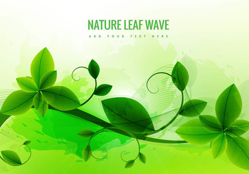 Nature leaf green background - vector gratuit #305133